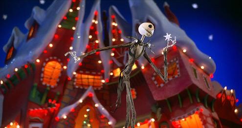 Jack Skellington in Christmas Town.